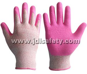 Work Glove with Pink Latex Coated (LDF8057) pictures & photos