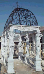 Stone Marble Garden Pavilion for Antique Outdoor Decoration (GR012) pictures & photos