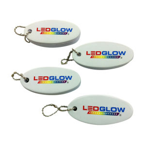 New Promotion Gifts Floating Oval PU Keychain pictures & photos