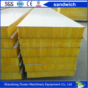 Rock Wool Sandwich Wall Panel of Color Steel Sheet for Prefabricated House pictures & photos