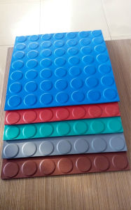 Round Stud Rubber Sheet, Ribbed Rubber Roll Floor pictures & photos