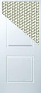 White Primed 2-Panel Molded Door (MD-1101)