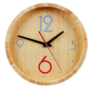 Bamboo Round Wall Clock for Home Decoration pictures & photos
