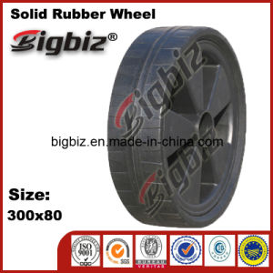 High Quality Replacement Molded Durable Wooden 300mm Rubber Wheels pictures & photos