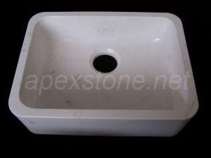 White Engineered Marble Sink