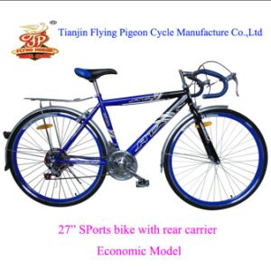 "Economic Mountain Bicycle Steel 27"" Road Bike pictures & photos"