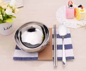 Shining Doulbe Layer Stainless Steel Bowl (LX-010) pictures & photos