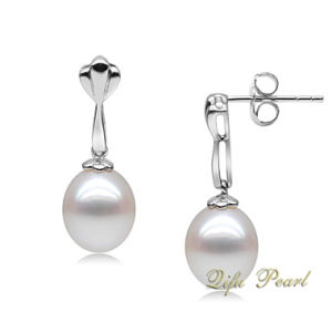 925 Silver Freshwater Pearl Bar Drop Earring (EA0132)