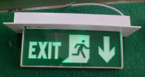 LED Emergency Exit Sign Light (QH-0290-2)