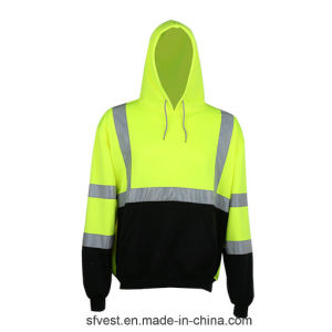 100% Polyester Fleece Men Long Sleeve Safety Hoodie
