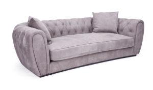 Original Italian Design Gray Nubuck Leather Sofa pictures & photos