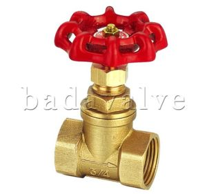 Brass Gate Valve with Butterfly Iron/Aluminum Handle (BDV030) pictures & photos