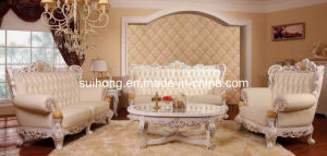 Living Room Furniture  on Living Room Furniture Set European Style Solid Wood Leather Sofa Set