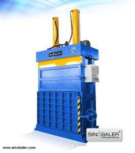 Vertical Two RAM Baler for Hard Plastic