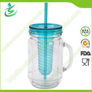 20oz Customized Fruit Juice Mason Jar, with Handle pictures & photos