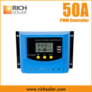 50A USB Charge Solar Regulator Controller 12V 24V LCD Display PWM