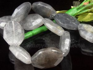 Natural Cloudy Quartz Beads (22*30mm Irregular)