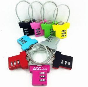 Clothes Shape Cable Combination Padlock
