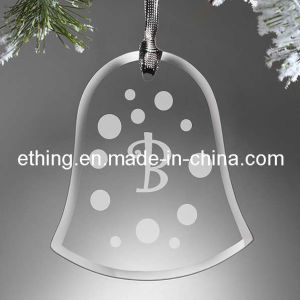 Personalized Bell Glass Xmas Ornament for Christmas Tree Ornaments pictures & photos