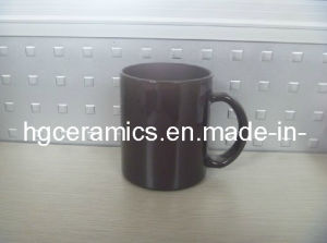 11oz Black Color Change Glass Mug, Color Change Glass Mug