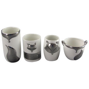 Various Styles of Fox Shape Electroplate Ceramic Jar pictures & photos