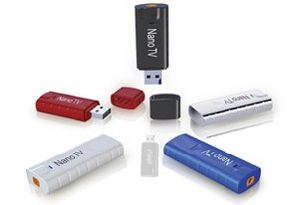 PCTV Nano DVB-T USB Stick with FM Radio + DAB (T1022)