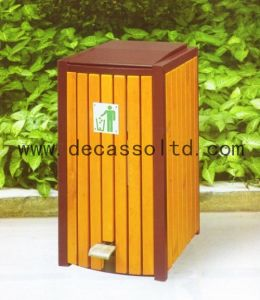 Eco-Friendly WPC Outdoor Dustbin (DL17) pictures & photos