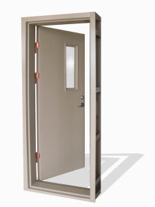 Fireproof Steel Door (HMY-0599) , Anti-Fire Door, Steel Door