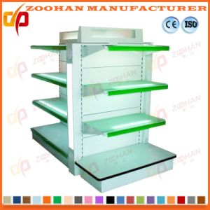 Fashion Supermarket Single Side Metal Punched Wall Display Shelf (Zhs550) pictures & photos