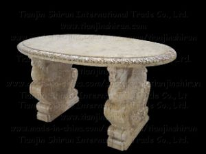 Oval Marble Table (2714) pictures & photos