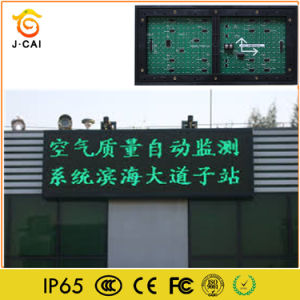 LED Information Video Screen P10 Single Green Lighting pictures & photos