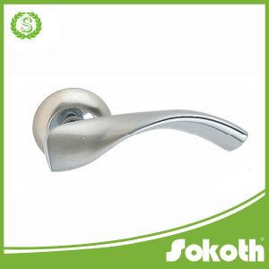 Door Hardware From China, Sn/Cp Aluminum Alloy Lever Door Handle pictures & photos