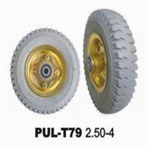 2.50-4 Grey PU Solid Power Wheelbarrow Tire pictures & photos