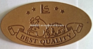 Leather Patch - Garment Accessory Custom Private Brand Name Logo Jeans Leather Label Patch pictures & photos