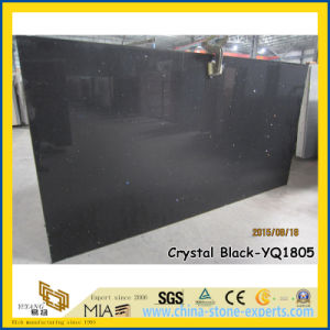 Good Sale Crystal Black Quartz Stone Slabs (YQ-1805) pictures & photos