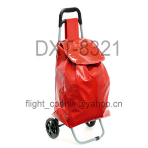 PVC Shopping Trolley Shopping Cart (DXT-8321) pictures & photos