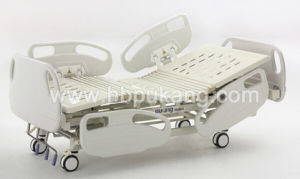Epoxy Coated Movable Medical Crank Manual Bed for Export (A-1-1)