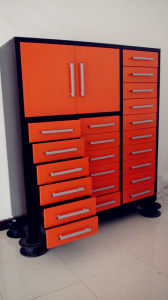 Medium Metal Tool with Steel Wheels and Drawers Cabinet pictures & photos