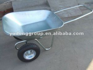 Double Wheelbarrow Wb6211 with Steel Tray pictures & photos