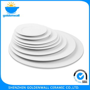 Ceramic Flat Plate and Saucer for Restaurent pictures & photos
