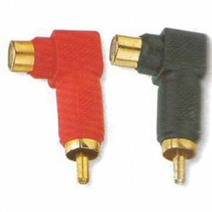 Right Angled RCA Male to Female Connector Adaptor pictures & photos