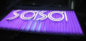 RGB LED Lamps Bulb Letter Signs Full Color DOT Matrix Letter Punching for Installing Light pictures & photos