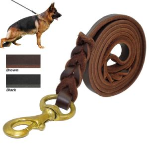 Braided Real Leather Dog Leash K9 Walking Training Leads pictures & photos