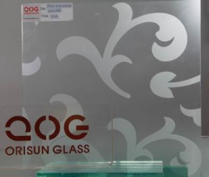 4-12mm Satin Acid Etched Glass with CE & ISO9001