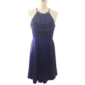 Ladies Fashion Evening Dress in Silk