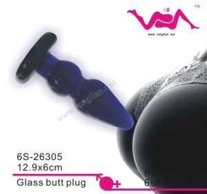 6s Hot Selling Stand up Butt Plug, Glass Anal Plug, Sex Tools for Both Men and Women 6s-26305