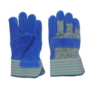 Blue Leather Protection Working Gloves pictures & photos