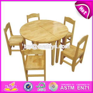 Wholesale High Quality Kindergarten Natural Wood Classroom Tables W08g210 pictures & photos