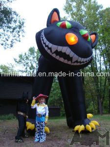 Outdoor Giant Inflatable Halloween Black Cat pictures & photos