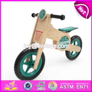 Newest Design Boys Sport Style Basketball Pattern Wooden Balance Bicycle for Kids W16c180 pictures & photos